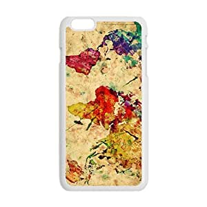 Watercolor world map Cell Phone Case for iPhone plus 6 by lolosakes