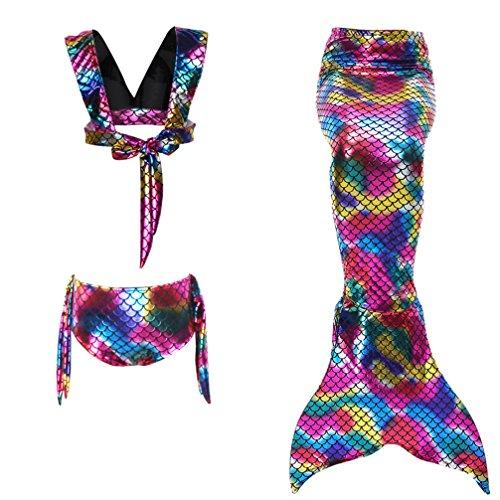 834909bf6 Caliente de la venta Anqeeso - Juego de 4 piezas para niñas con diseño de  cola