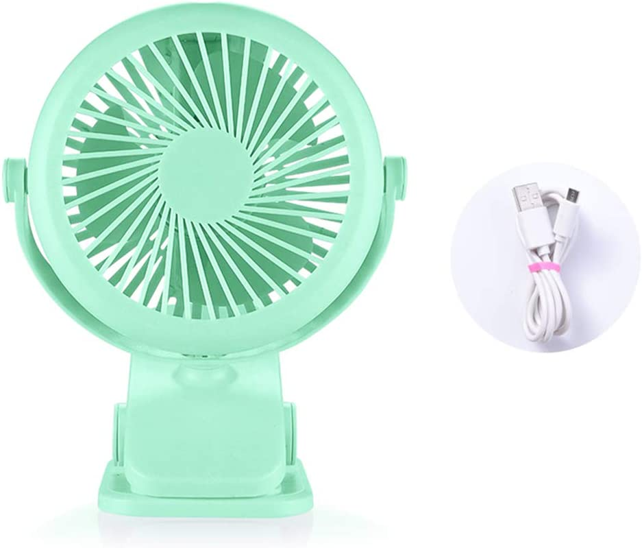 USB Mini Fan Desktop Clip Fan Rechargeable Portable Handheld Silent Fan