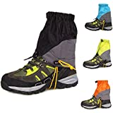 eForCrazy Outdoor Men's Waterproof Breathable Unisex Double Sealed Crocodile Gaiter Hiking Mountain Leg Protection Bug out Gaiters