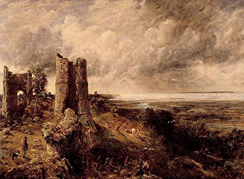 $50-$2000 Custom Made - Handmade Oil Painting by College Teachers - Hadleigh Castle Romantic Landscape John Constable Canvas Art for Home Wall Decoration -Large Size 16 (Hadleigh Castle)