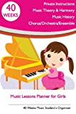 Music Lessons Planner for Girls, Tatiana Bandurina, 1489572856