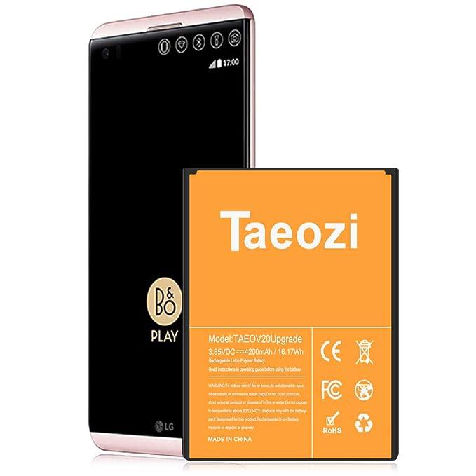 LG V20 BL-44E1F Battery Replacement Taeozi 【Upgraded】 4200mAh Li-ion  Battery for LG V20 BL-44E1F H910 H918 LS997 US996 VS995 | V20 Spare Battery  (18