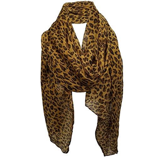 Leopard Scarf Leopard Print Scarf Animal Print Scarf animal print scarves FLP (1a Leopard Darkbrown)