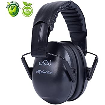 Noise Cancelling Baby Headphones Adjustable Ear Protection Ear Muffs Noise Reduction Ear Defenders for Sleeping Racing Drumming Hunting Construction, Suitable for Kids Adults, Black