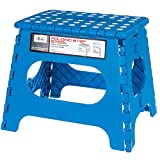 Acko Blue 11 Inches Non Slip Folding Step Stool for Kids and Adults with Handle, Holds up to 250 LBS