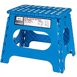 Acko Blue 11 Inches Non Slip Folding Step Stool for Kids and Adults with Handle ...  sc 1 st  Hardware-Store-Online.com & Heavy duty wood step stool for beds islam-shia.org
