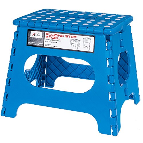 Price comparison product image Acko Blue 11 Inches Non Slip Folding Step Stool for Kids and Adults with Handle
