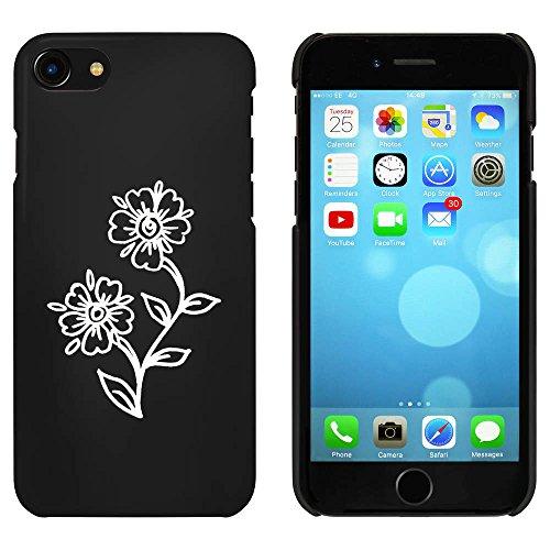 Noir 'Fleurs' étui / housse pour iPhone 7 (MC00068367)