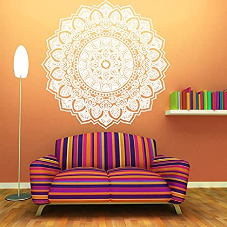 Amazon.com: pared decoración Mandala vinilo calcomanía ...