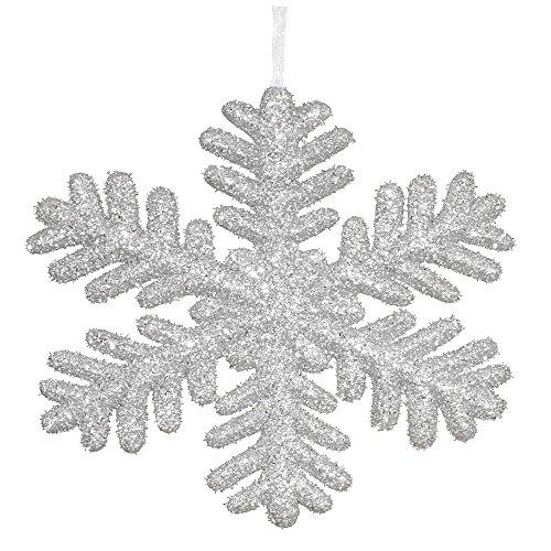 Vickerman Styrofoam Snowflake with Long Glitter, 13.75