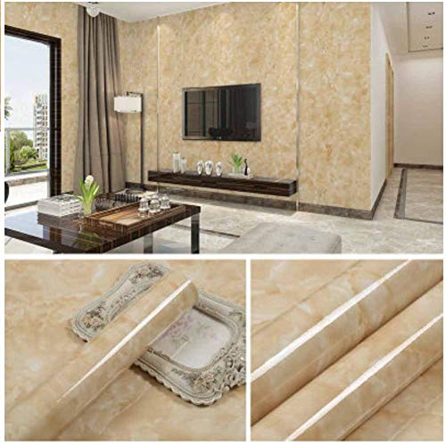 (Contact Marble Paper for Table Furniture Surface Orange White Wallpaper, 23.62