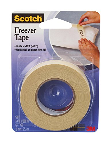Price comparison product image Scotch Freezer Tape,  3 / 4 x 1000 Inch,  3-PACK