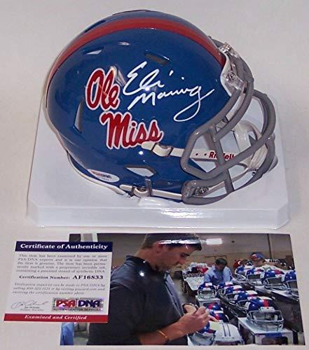 - Eli Manning Manning - Riddell - Autographed Speed Mini Helmet - Ole Miss Rebels - PSA/DNA