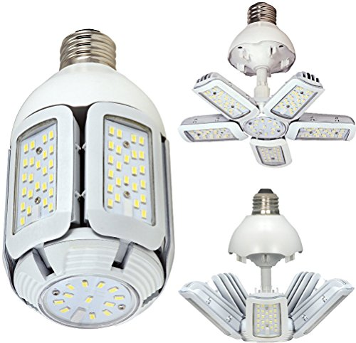 Satco S9752 60W LED HID Replacement 5000 K MoGUl Extended Base Adjustable Beam Angle 100-277V Light Bulb