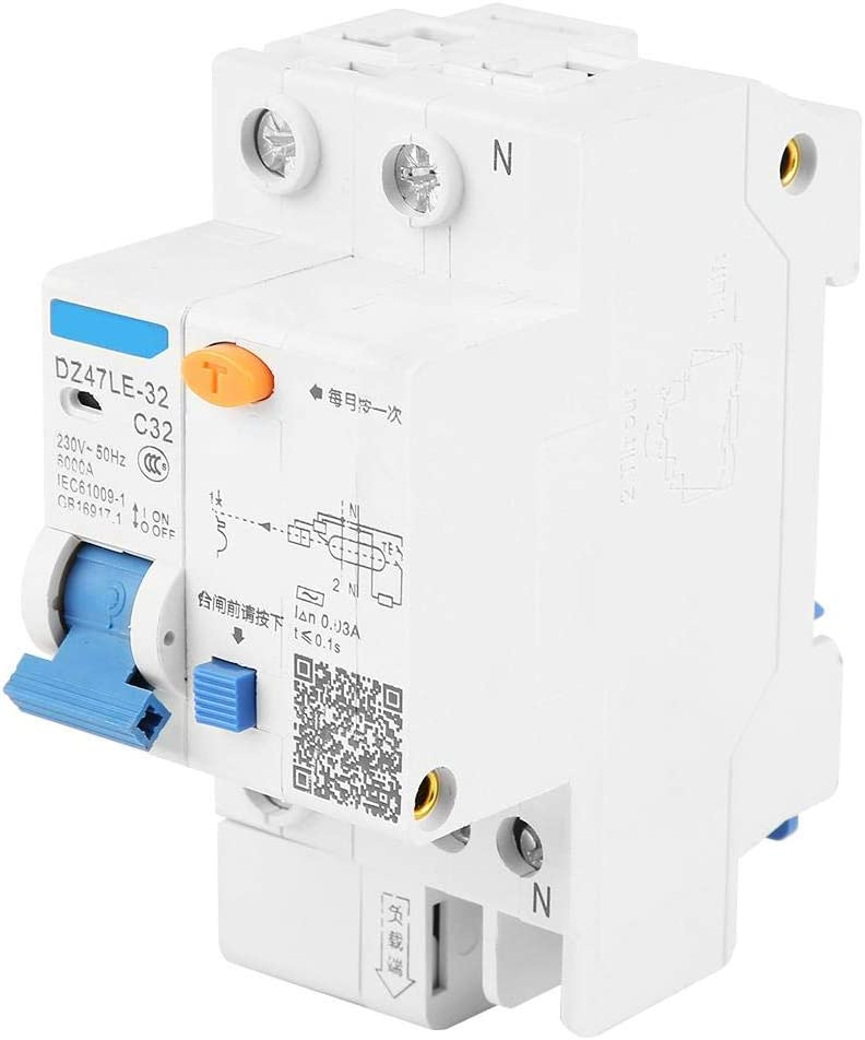 N pour protection contre les d/éfauts /à la terre 400V disjoncteur DZ47LE-32 Disjoncteur 3P 16A en option 6KA 50Hz 30MA 16A//25A Disjoncteur
