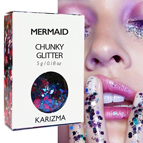 Mermaid Chunky Glitter ✮ COSMETIC GLITTER KARIZMA ✮ Festival Beauty Makeup Face Body Hair Nails]()