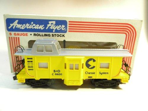 American Flyer 9400 Chessie System Bay Window Caboose S Gauge Train
