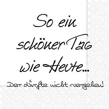 Braun /& Company Servietten Guter Tag /& Cocktail-Servietten Oh wie sch/ön,33x33 cm,20 St/ück