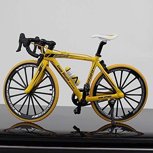 VIDOO 1:10 Diecast Bicicleta Modelo Juguetes Bend Racing Cycle Cross Mountain Bike Regalo Colección-Amarillo: Amazon.es: Hogar