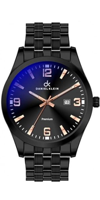 Reloj Daniel Klein de esfera negra en acero negro. Resistente al Agua 3ATM (Salpicaduras