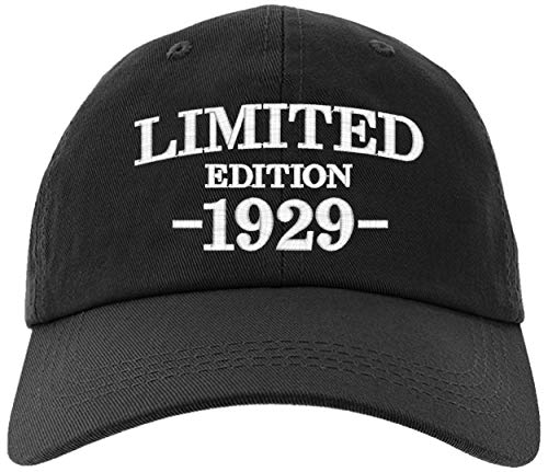 - Cap 1929-90th Birthday Gifts, Limited Edition 1929 All Original Parts Baseball Hat 1929-EM-0000-Black