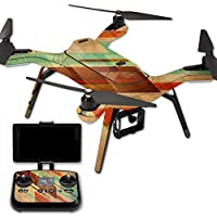 MightySkins Protective Vinyl Skin Decal for 3DR Solo Drone Quadcopter wrap cover sticker skins Abstract Wood