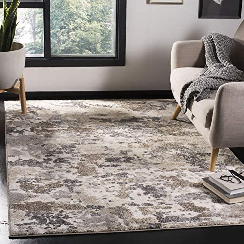 Safavieh Spirit Collection SPR123A Modern Contemporary Abstract Area Rug, 8 x 10 , Taupe Ivory