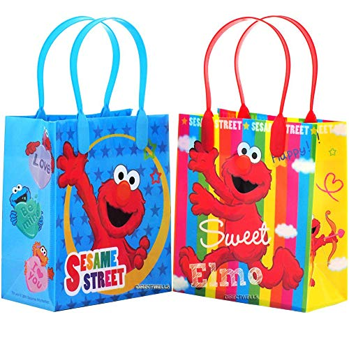 Elmo 12 Party Favors Reusable Goodie Small Gift Bags 6