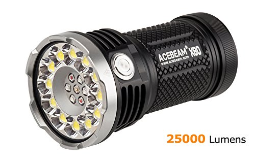 ACEBEAM X80 LED Flashlight 12x Cree XHP50.2 25000 Lumens 5-color Light Beam Flashlights Included 4 3100mah Batteries by Acebeam (Image #9)