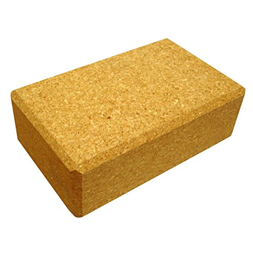 "YogaAccessories Eco-Friendly All Natural Cork Yoga Block - 3"" x 6"" x 9"""