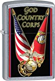 Personalized Message Engraved Customized Gift For Him For Her U.S. Marine Corps. Zippo Indoor Outdoor Windproof Lighter (Style10)