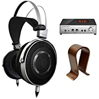Pioneer Aluminum Diaphragm High Resolution Stereo Headphones (SE-MASTER1) w/ A2 Headphone Amplifier Bundle Includes, BeyerDynamic A2 Headphone Amplifier & Universal Wood Headphone Stand