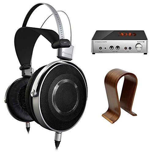 Pioneer Aluminum Diaphragm High Resolution Stereo Headphones (SE-MASTER1) w/ A2 Headphone Amplifier Bundle Includes, BeyerDynamic A2 Headphone Amplifier & Universal Wood Headphone Stand