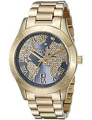 Michael Kors Womens Layton Gold-Tone Watch MK6243