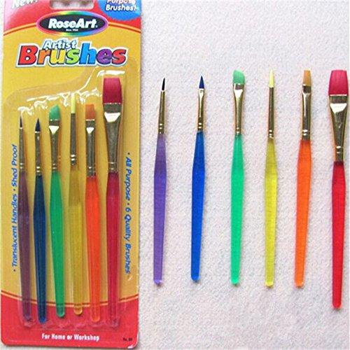 6pcs herramienta de bricolaje juego de bolígrafos glaseado de tartas decoración de cepillos de pintura fina Fondant...