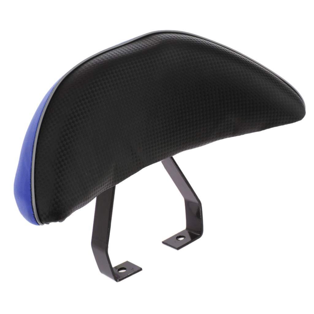 P Prettyia Dossier de Scooter Dossier de Si/ège du Passager Forme de V en Plastique ABS Accessoires Moto Bleu