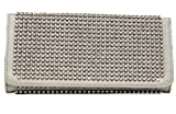HOT! Crystal and Rhinestone Encrusted Double Sided Wallet w/Snap Closure by Jersey Bling (metallic silver), Bags Central