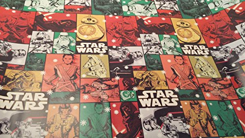 Christmas Wrapping Star Waes Princess Darth Vadar Holiday Paper Gift Greetings 1 Roll Design Festive Wrap (Charlie Brown Ghost Costume)