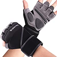 Grebarley Gym Gloves,Training gloves with Wrist Support,Weight lifting Gloves,Breathable Sport Gloves,Crossfit...