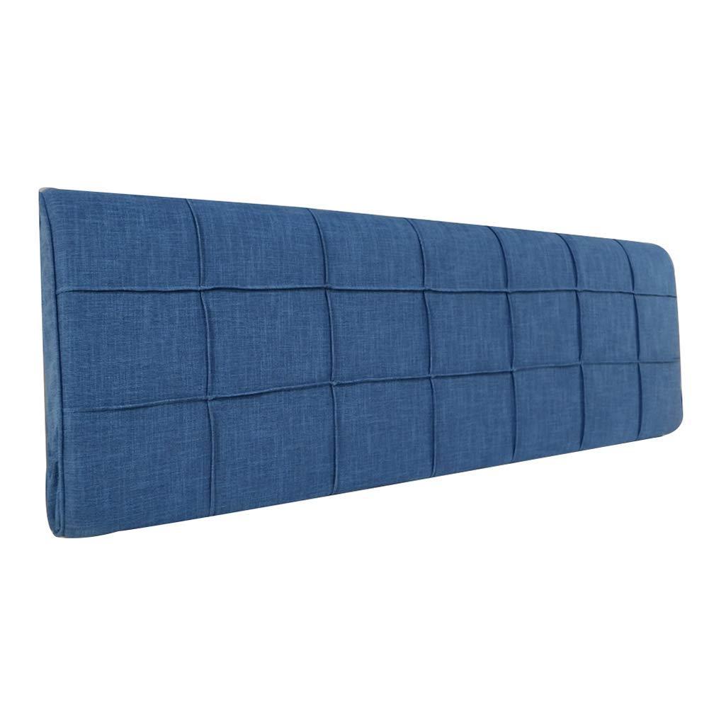 WCH ベッドサイドクッション、ファブリックリネンソフトパックベッド背もたれ取り外し可能と洗える無地残り読書枕 (Color : D-no Headboard, サイズ : 180X58X10cm) B07RRM5WV3 D--no Headboard 180X58X10cm