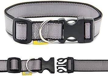 BPS® Collar Nylon Ajustable para Mascotas Perros Gatos con ...