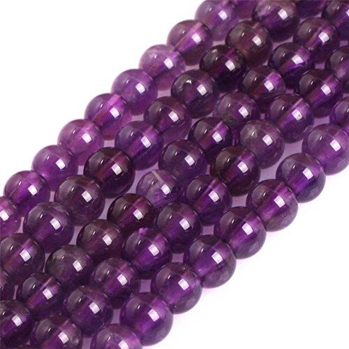 - Joe Foreman Amethyst Beads for Jewelry Making Natural Semi Precious Gemstone 4mm Round AAA Grade Genuine Strand 15
