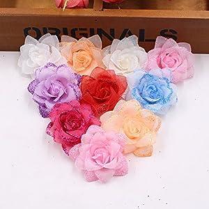 Artificial Flower Roses Wedding Decoration Party Decoration Festive Decoration Home Decoration Spray Powder Flower Heads 30PCS 5CM 115