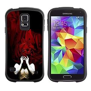 Suave TPU GEL Carcasa Funda Silicona Blando Estuche Caso de protección (para) Samsung Galaxy S5 / CECELL Phone case / / Human Body Man Red Sheets Mask Hands /