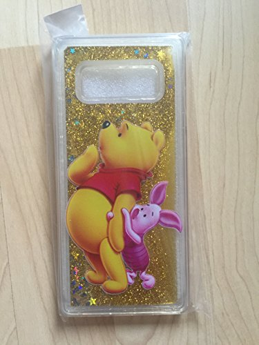 (Winnie The Pooh Sparkle Liquid Glitter Quicksand Case For Samsung Galaxy Note 8 Ship From NY)
