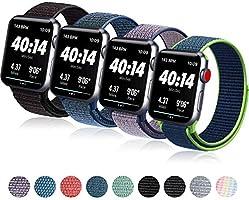 コンパチブル Apple Watch バンド 38mm 40mm 42mm 44mm,ナイロンスポーツループバンドストラップ交換バンドアップルウォッチシリーズ 適応 iWatch Series 5 4 3 2 1 (42mm/44mm,...