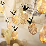 Naladoo Battery Box Pineapple Pineapple Fruit Creative Decorative Lamp Led String Lights for Indoor/Outdoor Christmas Thanksgiving Home Party Children Kids Bedroom Decoration (3M 20LED)