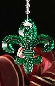 Waterford 2013 Fleur De Lis Ornament Emerald