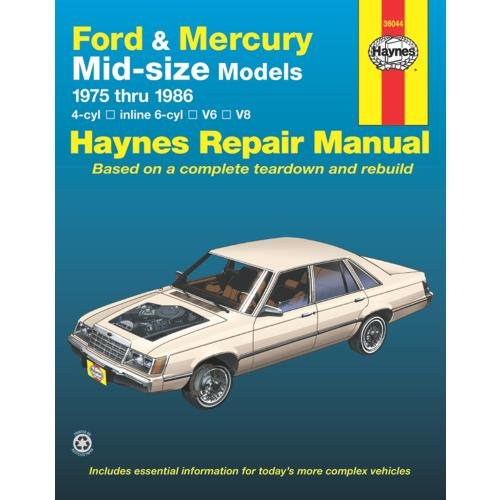 UPC 038345007736, Haynes Repair Manuals Ford & Mercury Mid-Size Sedans, 75-86 (36044)